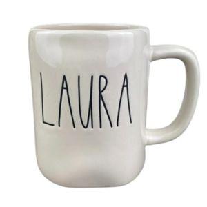 NWOT Rae Dunn Laura Name Coffee Mug